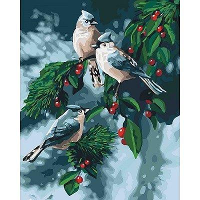 Зимние птички (КНО4081) Картины по номерам