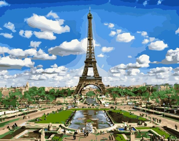 Купить Картину по номерам Эйфелева башня GX9011 Киев ...